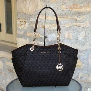 NWT Michael Kors Jet Chain Signature handbag